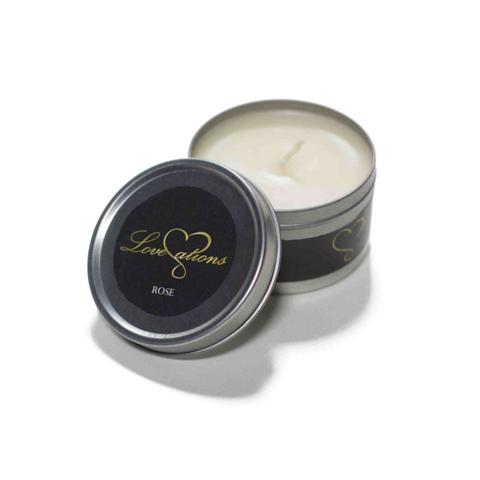 massage candle rose